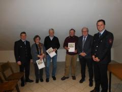 Ehrungen für langjährige Mitgliedschaft im Verein (von links nach rechts): C. Fischer, U. Schwalm-von-Höhe, H.-I. Irmler, M. Racky, Dr. N. Beltz, F. Forster