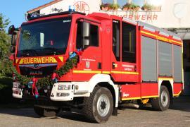Foto des neuen Löschgruppenfahrzeug LF-10 Katastrophenschutz